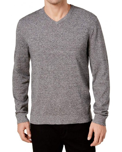 Alfani Mens V-Neck Long Sleeves Pullover Sweater B W L at  Men's Clothing store