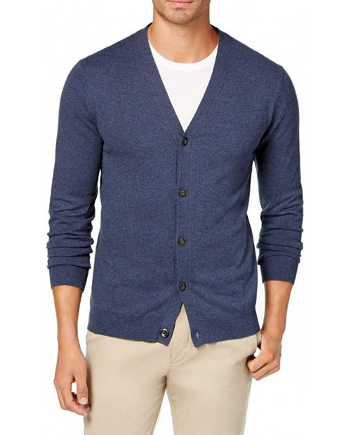Club Room Mens Ribbed Trim Long Sleeves Cardigan Sweater at Men's Clothing store