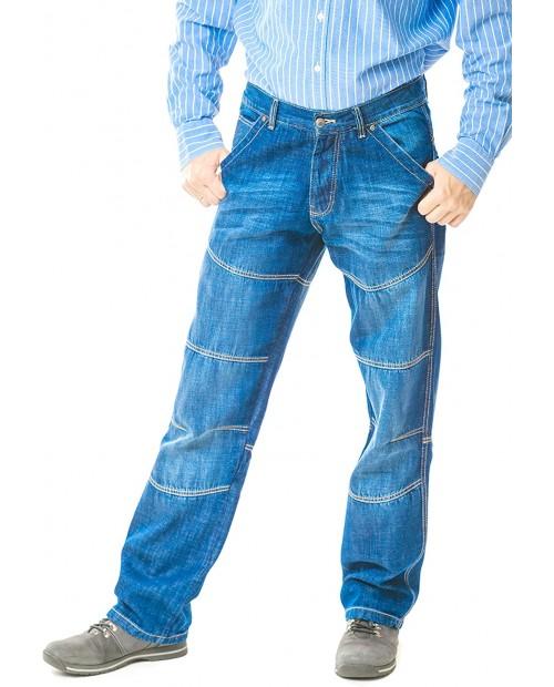 BARS Rare Model Indigo Jeans Dark Blue Men's Straight Pants at Men's Clothing store