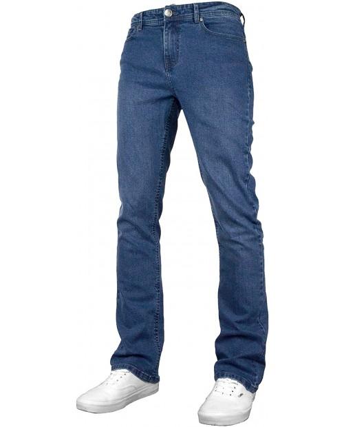 F&H Denver Mens Stretch Regular Fit Bootcut Wide Leg Denim Jeans at Men's Clothing store