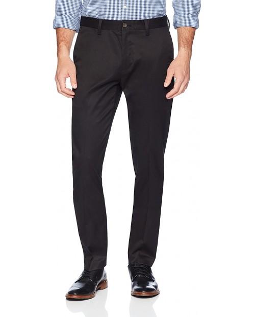 Brand - Buttoned Down Men's Slim Fit Non-Iron Dress Chino Pant Black 34W x 28L