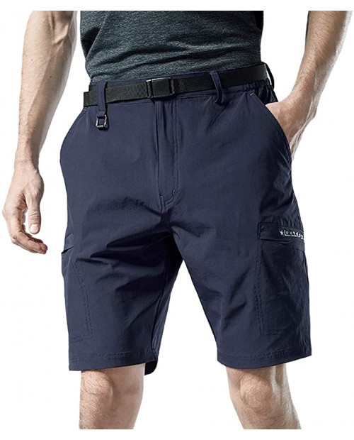 Kolongvangie Men's Outdoor Comfy Lightweight Quick Dry Stretchy Cargo Shorts with Multi Pockets No Belt |