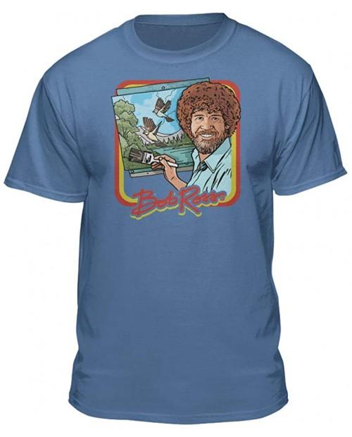 Bob Ross Retro Painting Tshirt - 100% Authentic - Graphic T-Shirt for Men-Women-Kids