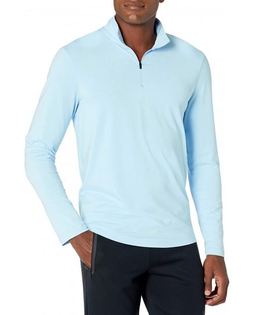 Brand - Peak Velocity Men's Pima Cotton Lightweight Quarter Zip Shirt