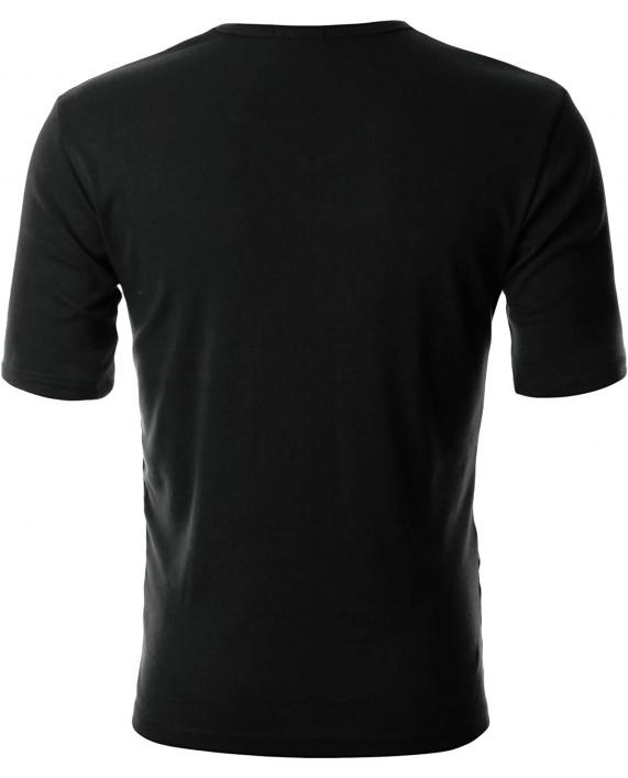 GIVON Mens Slim Fit ComfortSoft Cotton Short Sleeve Lightweight V Neck T-Shirt  