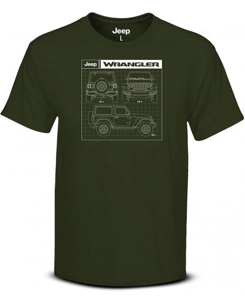 Jeep Wrangler Men's Green T-Shirt