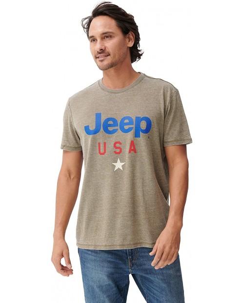Lucky Brand Men's Short Sleeve Crew Neck Jeep USA Star Tee  