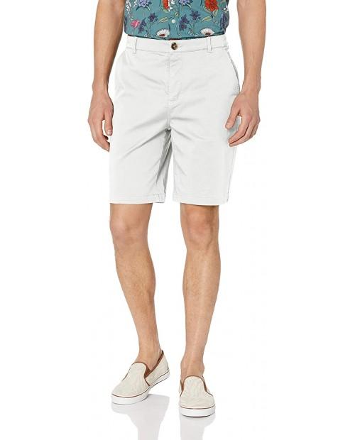 Brand - 28 Palms Men's 9 Inseam Cotton Tencel Chino Short