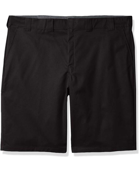 Dickies Men's Big & Tall Big-Tall Cooling Temp-iq Active Waist Flat Front Shorts at Men's Clothing store