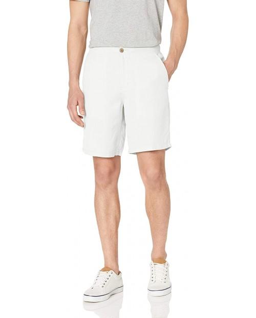 Essentials Men's Slim-fit 9 Flat-Front Linen Short