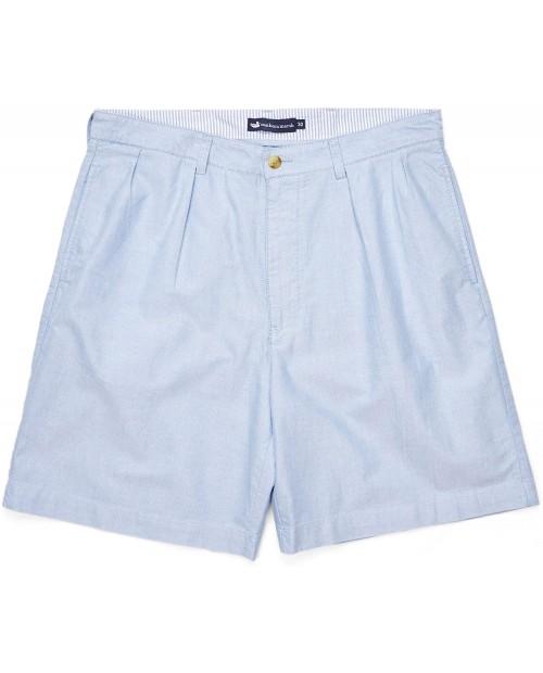 Southern Marsh Regatta Short 8 - Pleated Light Blue at  Men's Clothing store