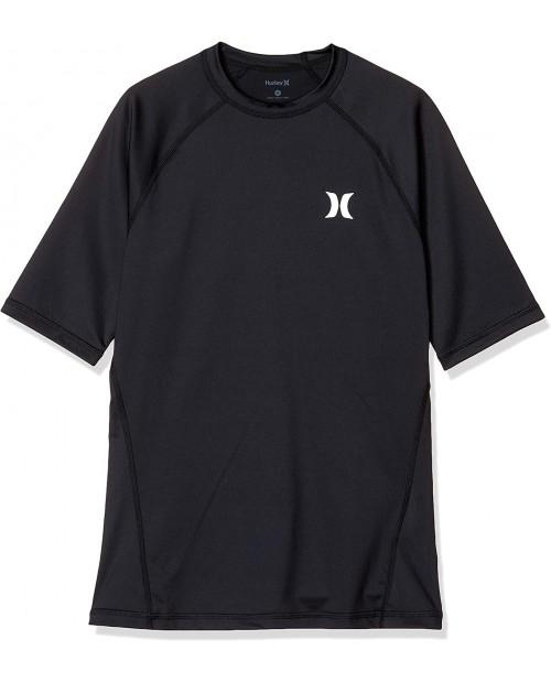 Hurley Men's Short Sleeve Pro Light Quick Dry Sun Protection Rashguard Shirt