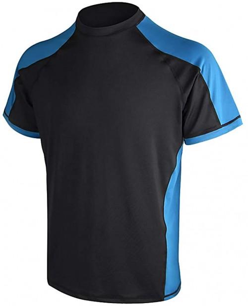 Men's Solid Rashguard UPF 50+ Swim Shirt Mens Sprint UPF50+ Sun Protective Rash Guard Active Shirt |