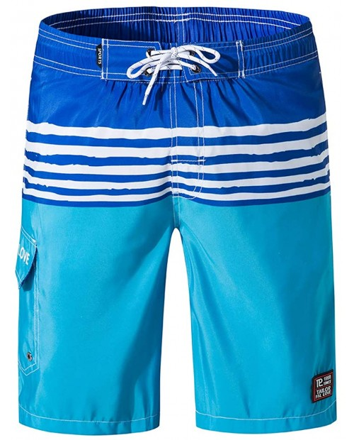 Men's Swim Trunks Quick Dry with Mesh Lining Board Shorts with Pockets 9 Inches Inseam Beach Shorts for Swimming Surfing |