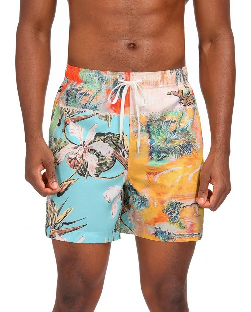 Mens Swim Trunks with Mesh Lining Quick Dry Beach Workout Athletic Shorts with Pockets Swimwear |