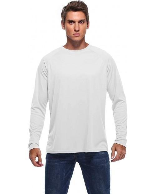 Men's UPF 50+ Running Sun Protection Long Sleeve T-Shirt Outdoor Rashguard Hiking Hoodies Performance Athletic Top