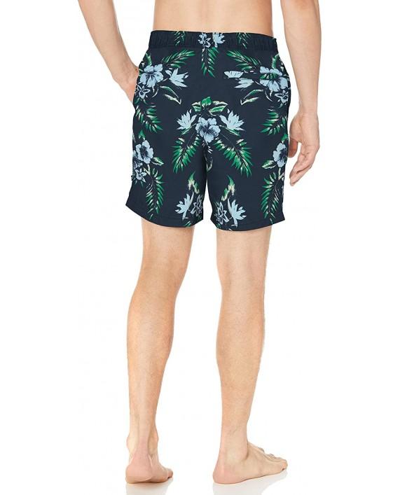Nautica Men's Quick Dry Palm Print Series Swim Trunk  
