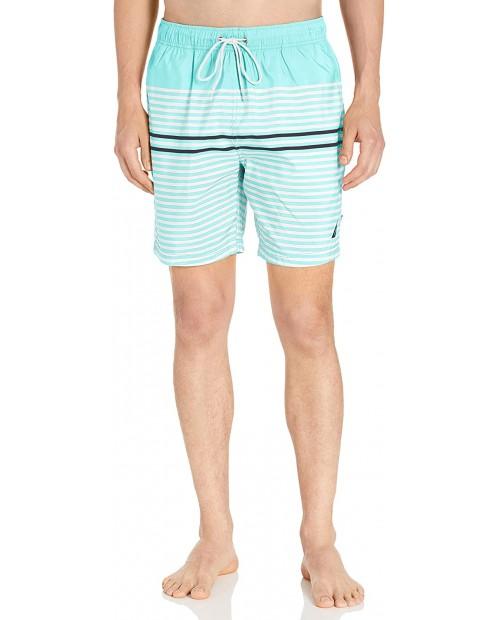 Nautica Men's Quick Dry Varigated Stripe Series Swim Trunk |