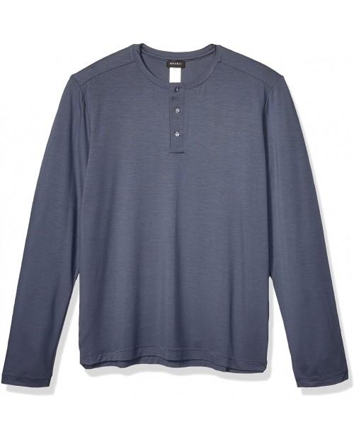 HANRO Men's Harrison Long Sleeve Shirt 75642 at Men's Clothing store