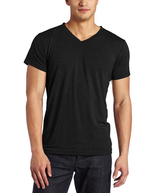 Intimo Mens Soft Knit Short Sleeve V-Neck Top at Men's Clothing store