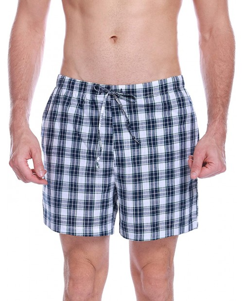 Aibrou Mens Sleep Shorts Cotton Pajama Shorts Knit Sleepwear Lounge Shorts with Pockets at  Men's Clothing store