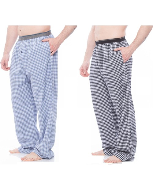 Alki'i Men's Cotton Flannel Pajama Pant with Pockets Assorted 2-Pack M at  Men's Clothing store