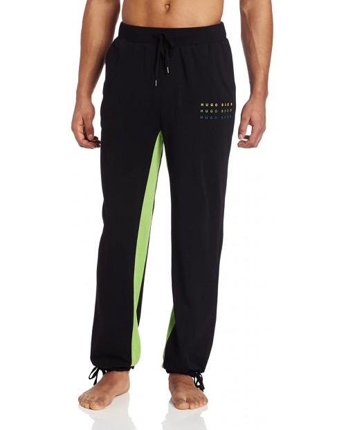 BOSS HUGO BOSS Men's Contrast Color Lounge Pant Black Small at Men's Clothing store Pajama Bottoms