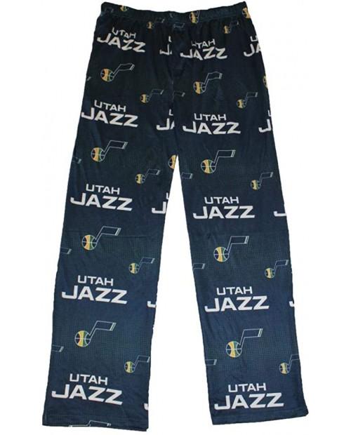 FOCO Utah Jazz Men's Scatter Pattern Pajama Lounge Multi Color Pants at Men's Clothing store