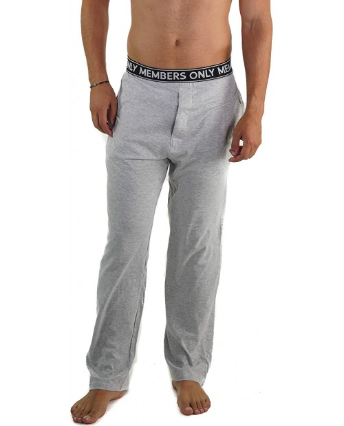 Members Only Men's Flannel Sleep Pant 100% Cotton Woven with Two Side Pockets Soft & Comfortable Loungewear for Men at Men's Clothing store