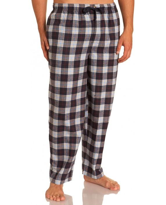Nautica Men's Founder Tartan Flannel Pant at Men's Clothing store Pajama Bottoms