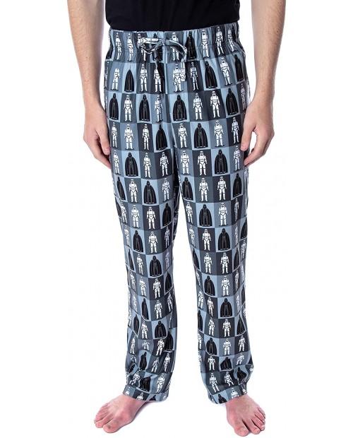 Star Wars Men's Darth Vader and Stormtrooper Allover Grid Print Adult Sleepwear Lounge Pajama Pants at Men's Clothing store