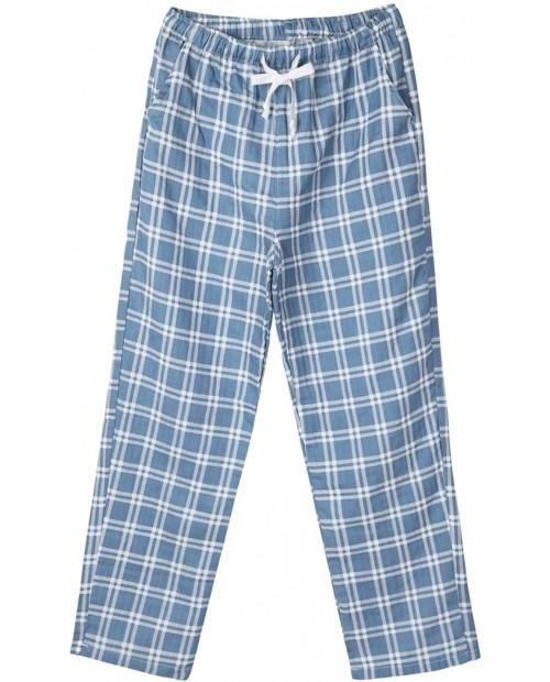 XUNZOO Mens Cotton Pajama Pants Sleep Pants with Pockets Plaid Pj Bottoms Soft Lounge Pajama Pants for Men at Men's Clothing store