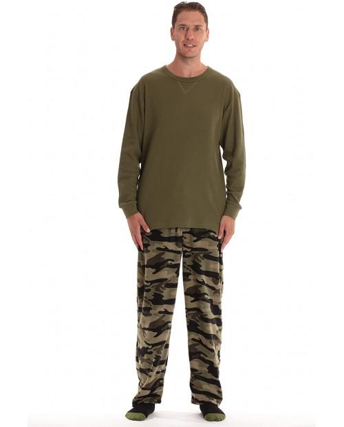 #followme Men's Pajama Pants Set with Matching Novelty Socks with Sayings at Men's Clothing store
