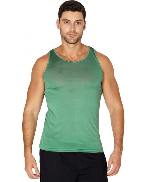 INTIMO Men's Classic Silk Knit Tank Top