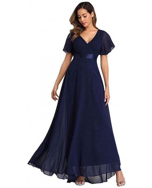 2021 Chiffon V Neck Formal Party Dress Long Evening Dresses