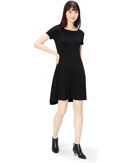 Brand - Daily Ritual Women's Jersey Short-Sleeve Bateau Neck Dress