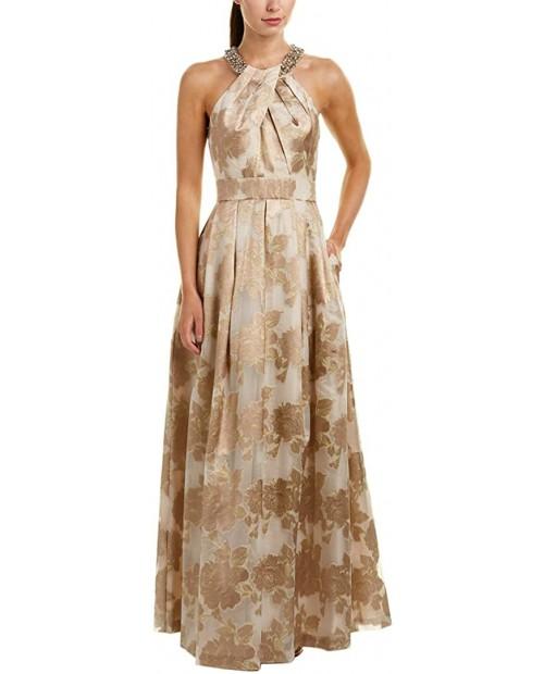 Eliza J Women's Beaded Halter Gown