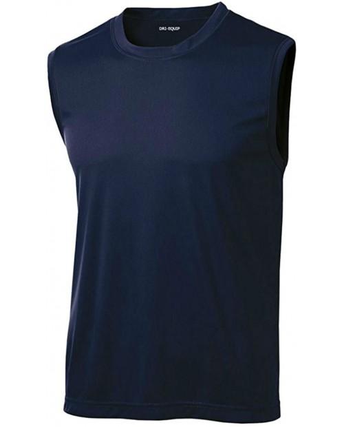 DRIEQUIP Mens Sleeveless Moisture Wicking Muscle T-Shirts. XS-4XL