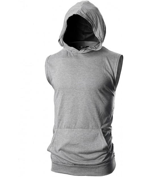 GIVON Mens Slim Fit Thin Super Lightweight Sleeveless Hoodie with Kanga Pocket at  Men's Clothing store