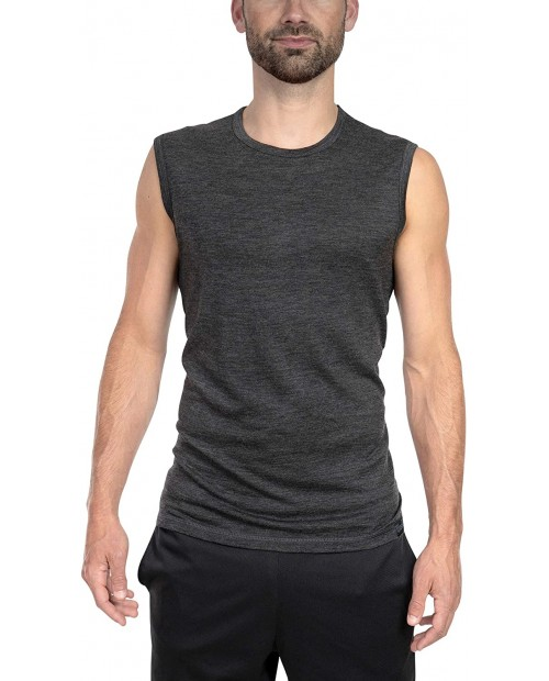 Woolly Clothing Men's Merino Wool Tank Top - Ultralight - Wicking Breathable Anti-Odor at  Men's Clothing store