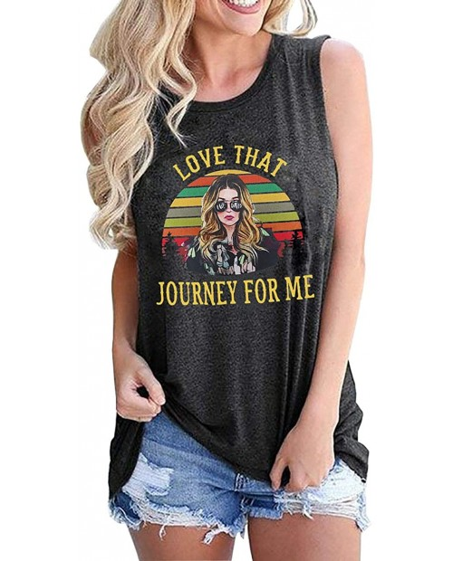 Ew David Tank Tops for Women Love That Journey for Me Shirts Schitt's Creek Tanks Top Tees at Women's Clothing store