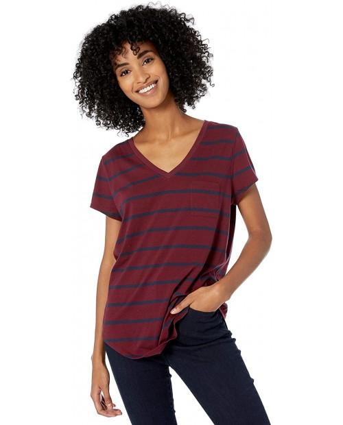 Brand - Goodthreads Women's Washed Jersey Cotton Pocket V-Neck T-Shirt