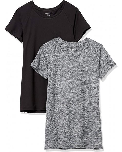 Essentials Women's Cap-Sleeve Tech Stretch 2-Pack T-Shirt