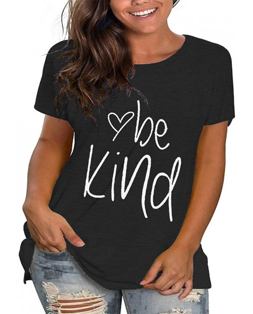 Plus Size Be Kind Tshirts Womens Graphic Tees Teacher Shirts Short Sleeve Summer Tunic Tops at  Women's Clothing store