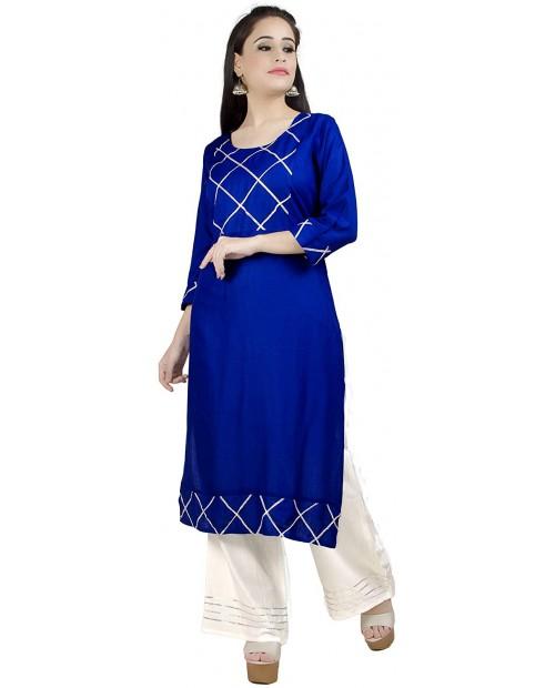 Chandrakala Kurti Palazzo Set for Women 100% Cotton Indian Kurta SetK137 at  Women's Clothing store