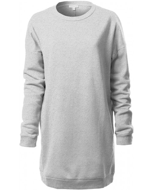 Design by Olivia Women's Casual Loose Fit Long Sleeves Over-Sized Tunic Sweatshirts at Women's Clothing store