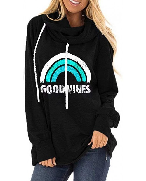 ECESRY Women Cowl Neck Tunics Tops Mama Bear Shirt Good Vibes Hoodies Pullover Be Kind Sweater Faith Print Fall Sweatshirts at  Women's Clothing store