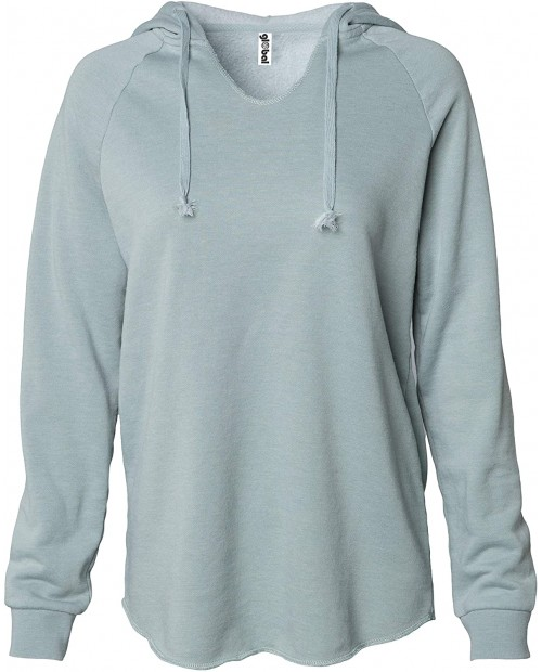 Global Blank Women's Long Sleeve Tunic Top Hooded Fleece Sweater Pullover Hoodie at Women's Clothing store