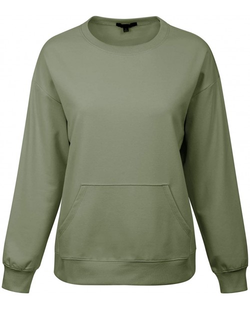 MixMatchy Women's Soft and Comfy Basic Pullover Crewneck Fleece Sweatshirt at  Women's Clothing store