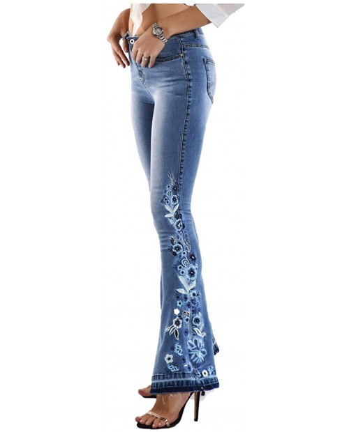 Chowsir Women Stretch Skinny Fit Bootcut Jeans Denim Pants at Women's Jeans store